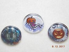NEW 3ct Halloween Snap metal Chunk Button Charms for Leather Snap bracelets