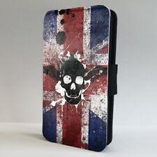 Bandera de la Unión Jack Teléfono Abatible de cráneo británico Estuche Cubierta para iPhone Samsung