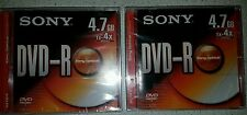 2xSONY DVD - R 4.7 GB Blank Recordable New/Sealed