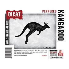 Meat Maniac PEPPERED KANGAROO JERKY 3oz Exotic Jerky Wild Game Meat Beef Jerky