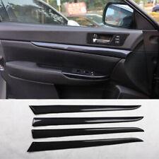For Subaru outback Legacy 2010-2014 carbon fiber inner door panel cover trim 4pc