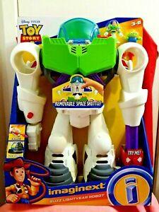 "Imaginext Disney Pixar Toy Story 4 Buzz Lightyear Robot Playset 21"" Tall - New"