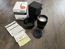 Sigma 85mm F1.4 DG DN Art L-Mount Traumobjektiv Portrait Leica SL SL2 Pana S1 S5