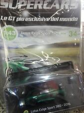 LOTUS EXIGE SPORT 380 2016   SUPERCARS GT COLLECTION 1:43 #34 - DIE CAST