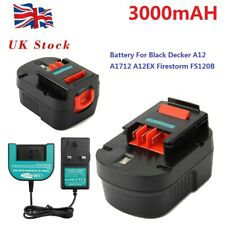 3500mAh 12V Ni-MH Battery For BLACK & DECKER A12 A1712 A12-XJ A12EX FS120B HPB12