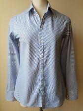 Polo Ralph Lauren Women Shirt Stripes Long Sleeves blue white Bottoms Down