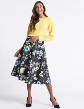 M&S Jacquard Floral Print A-Line Midi Skirt 6/10 RRP £45