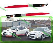 Mitsubishi Ralliart Extreme Sides Stripe Pair Decal Sticker For Lancer Evolution