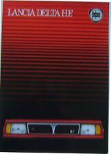 Lancia Delta Hf Turbo 1983-84 Original mercado neerlandés folleto de ventas