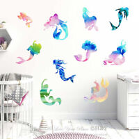 Mermaid Wall Sticker Home Nursery Decor Vinyl PVC Kids Girls Decal Art Mural DIY