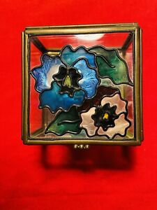 vintage stain glass box