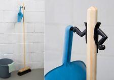 Peleg Design Mr. Brooman la pelle à poussières & balai support Nouveau/OVP Broom Hanger Noir