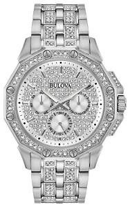 Bulova Octava   Men's  42mm Quartz Watch w/ Swarovski Crystals