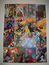 SET OF ALL 16 MARVEL, DC, IMAGE OVERPOWER MULTI-POWER POWER CARDS 1-4 INTELLECT