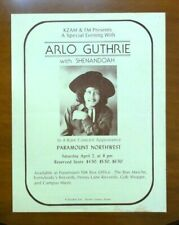 Ca. 1975, Arlo Guthrie Concert Poster, At The Paramount Northwest, In Seattle.