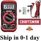 ?? New CRAFTSMAN Digital Multimeter with 9V Battery+Case Volt AC DC Tester Meter