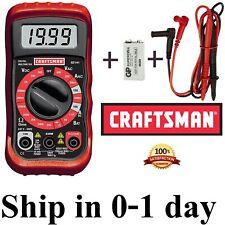 🔥 New CRAFTSMAN Digital Multimeter with 9V Battery+Case Volt AC DC Tester Meter