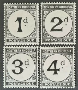 STAMPS NORTHERN RHODESIA 1929 POSTAGE DUE MINT LH - #3166