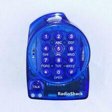 Radio Shack (43-2104) Blue Mini Headset Telephone Individual