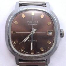 Vintage Soviet Poljot windup watch Nice Brown Dial USSR 70's Serviced*IN US*#796