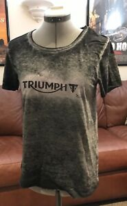Triumph Women's Motorcycle Clothing Vintage Logo Tee-Shirt MTSA16042
