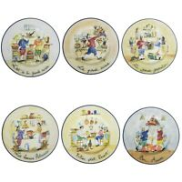 Williams Sonoma Dessert Snack Appetizer Plates French Chefs Illustrated Set of 6