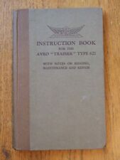 """Instruction Book for the Avro """"Trainer"""" Type 621 *1931 1st edition*"""
