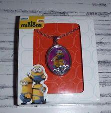 New Minions Movie Shaker Pendant Necklace