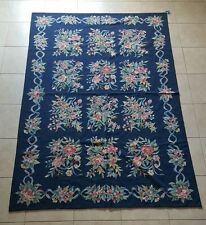 VINTAGE Needle Point Wool Anhui Chinese Carpet, Area Rug, 6' x 9'Made in China