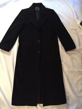 Black Wool Cashmere Blend Halston Lifestyle Women's Coat Size 4 Beautiful