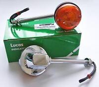 """GENUINE LUCAS INDICATOR x2  5"""" STEM 60-4105 BSA A65 NORTON COMMANDO TRIUMPH T140"""