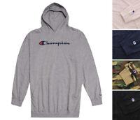 Champion Men's Logo Hoodie Big & Tall Knit Pullover Long Sleeve Hooded Shirt