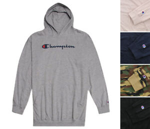 Champion Men's Logo Hoodie Big & Tall Knit Pullover Long Sleeve Hooded Shirt
