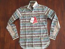 PRPS GOOD & CO PRPS Goods Brown/Horizontal Stripe Shirt(SMALL)  $180