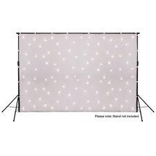 LEDJ White Star Cloth DMX 3m x 2m Backdrop Curtain LED Starcloth Warm White