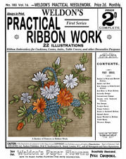 Weldon's 2D #183 c.1900 Vintage Instructions in Practical Ribbon Embroidery