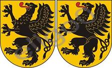 2x pomorskie POLAND coat of arms bumper stickers decals