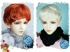 2 wig set 7-8 inch Blonde&Carrot Short Wig for 1/4 BJD MSD Similar Doll