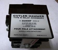 Cutler Hammer D26MF Type M Relay 4 Pole Attachment