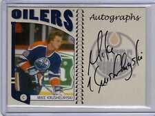 MIKE KRUSHELNYSKI 04/05 ITG Franchises Oilers Auto MKR Signed Hockey Card