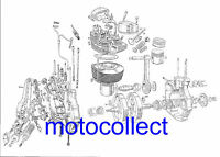ROYAL ENFIELD Bullet Engine - Exploded View Technical Drawing..A3 420mm x 300mm