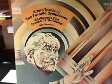 """TOSCANINI TWO FAVORITE SYMOHONIES BEETHOVEN's Fifth Schubert's """"Unfinished"""" s"""