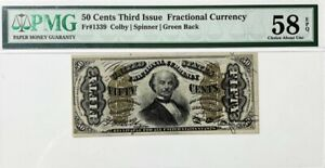 Fractional Currency - Spinner - 50 Cents - 3rd Issue 1863 - Fr.1339 - PMG 58EPQ