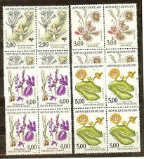 FRANCE BLOCS DE 4 YVERT N° 2766 à 2769 FLEURS