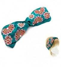Turquoise and Multi Colored Bow FASHION Headband