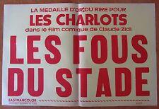 ANCIENNE AFFICHE CINEMA LES FOUS DU STADE LES CHARLOTS