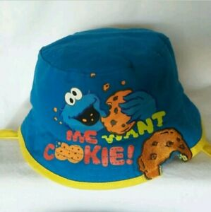 Sesame Street COOKIE MONSTER Bucket Sun Hat  New One size Infant