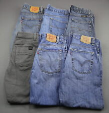 Boy's 6 Pair Lot Jeans Levi's Wrangler Faded Glory RSQ Size 14