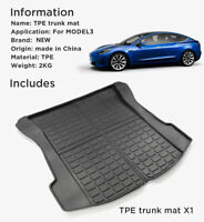 For Tesla Model 3 Waterproof Car Rear Trunk Boot Liner Protector Cargo Mat for A