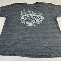 Harley Davidson Motor Cycles T-shirt Mens XXL Indianapolis Milwaukee WI Gray S/S